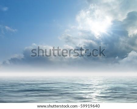 Sea sunrise - stock photo