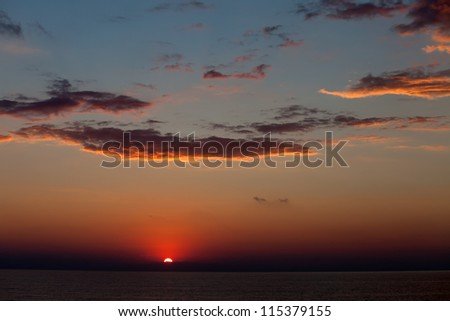 Sea sunset. Black Sea. Crimea, Ukraine. - stock photo