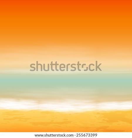 Sea sunset. Tropical background. - stock photo