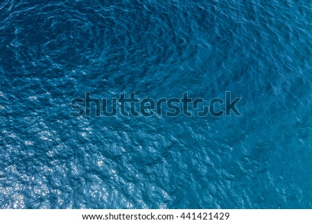 Sea surface aerial view