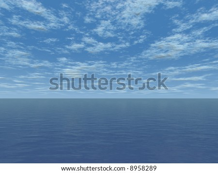 sea surface and  cloudy sky