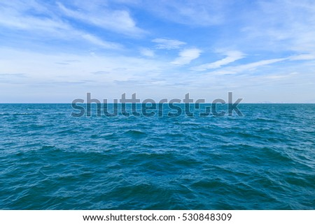 sea surface summer wave background. Natural tropical water paradise. Pattaya nature relax. Travel tropical island resort. Ocean nature tranquility Pattaya Koh Larn, Thailand