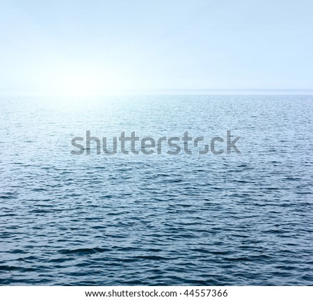 Sea surface with light