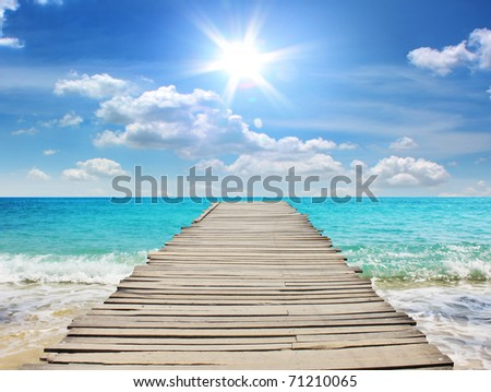 Sea travel in the holidays - stock photo