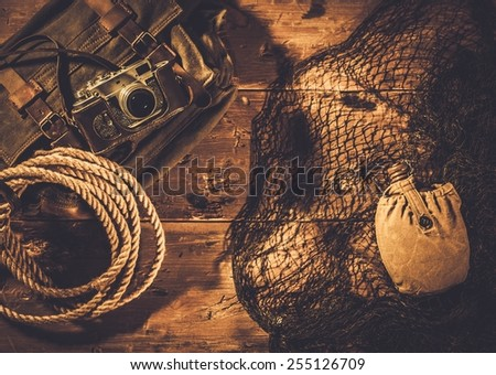 Sea travellers concept in wooden interior  - stock photo