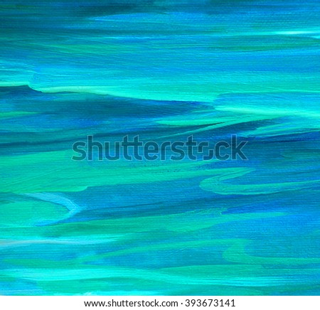 sea turquoise wave oil painting on canvas - stock photo