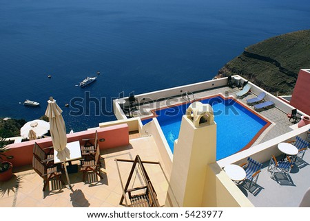 Sea view - stock photo