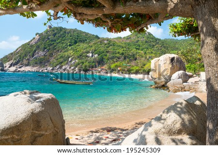 Sea view at Koh Tao island , Samui, Thailand  - stock photo