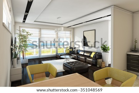 Sea View Bright Living Room