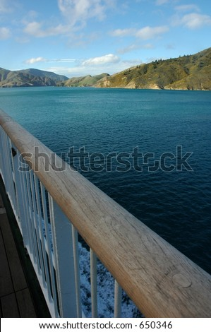 sea view from cruise - stock photo