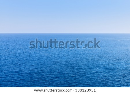 Sea view horizon as background with blue clear water