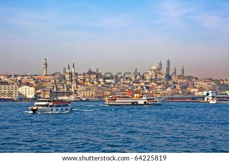 Sea view in Istanbul, Turkey