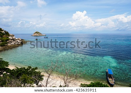Sea view of coral reefs