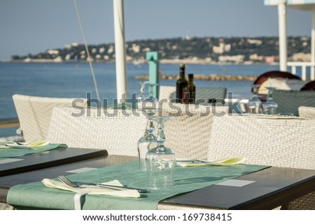 Sea view terrace  - stock photo