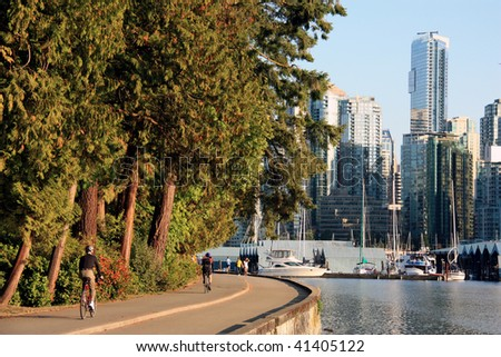 Sea walk at the Stanley Parc Vancouver City - stock photo