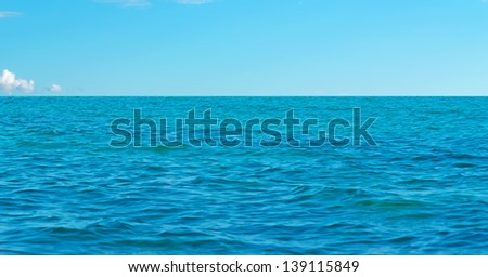sea water and blue sky in Sardinia