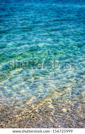 Sea water background - stock photo