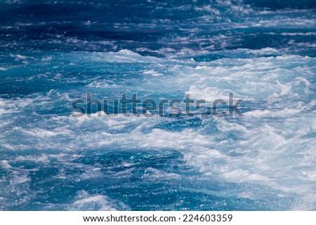 Sea water background - stock photo