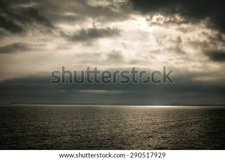 sea water clouds