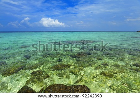 Sea water Lipe, Thailand. - stock photo