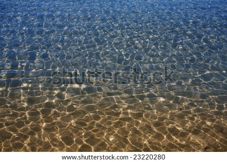 sea water pattern, warm to cool