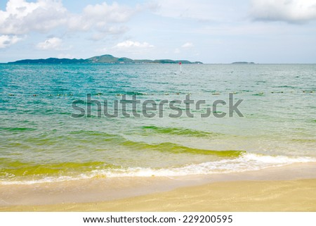 sea wave and sand