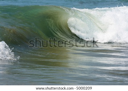 Sea wave approaching on coast