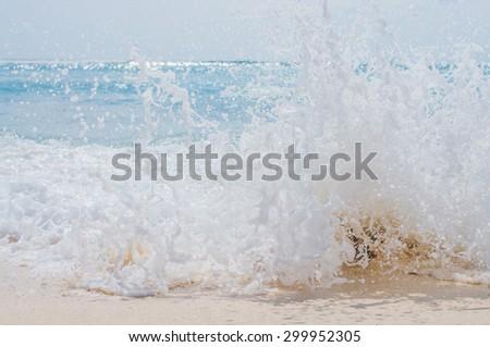sea wave splash - stock photo