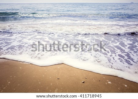 Sea waves crashing over rocks