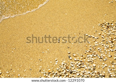 Sea waves on tropical beach in natural harmony