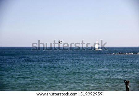 Sea with a person