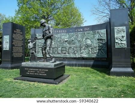 SEABEES Memorial in Arlington National Cemetery, Arlington Virginia USA - stock photo