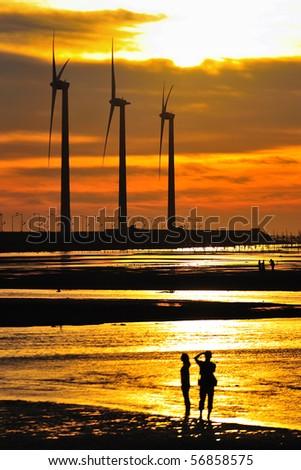 seacoast sunset - stock photo