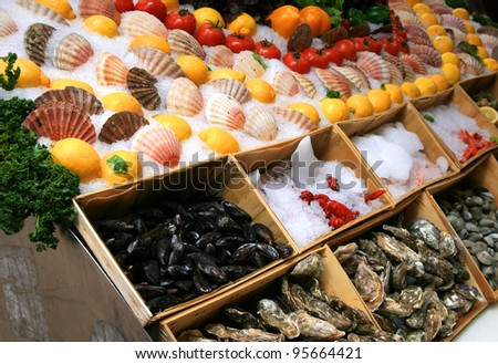 Seafood. - stock photo