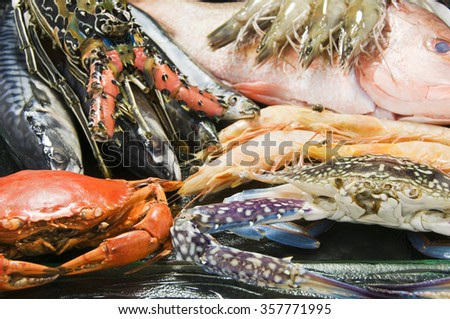 Seafood Buffet  - stock photo