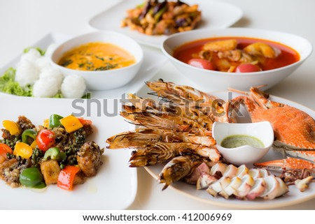 Seafood dishes and Thailand