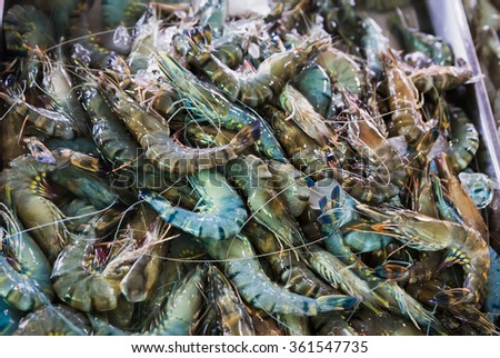 seafood market in Thailand - stock photo