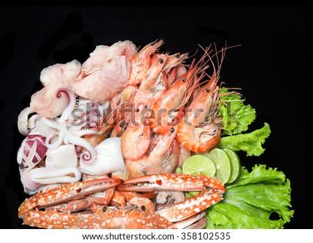 Fresh King Crab Sashimi Special Seafood Stock Photo
