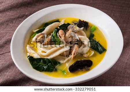 Seafood Noodle - stock photo