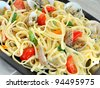 Seafood pasta - stock photo