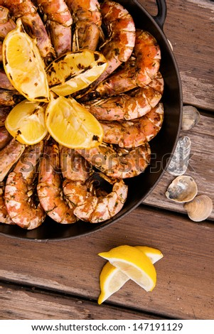 seafood picnic - stock photo