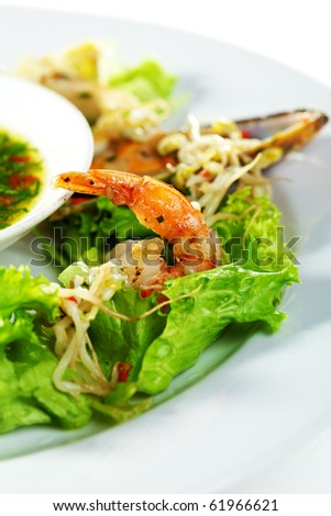 Seafood Salad with Soya and Spicy Sauce