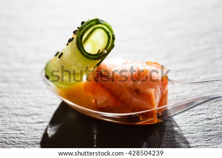 seafood snack - stock photo