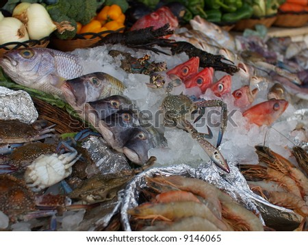 Seafood spread - stock photo