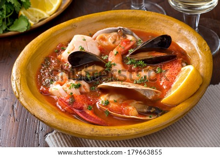 Seafood Stew - stock photo