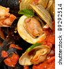 Seafood stew at restaurant - stock photo
