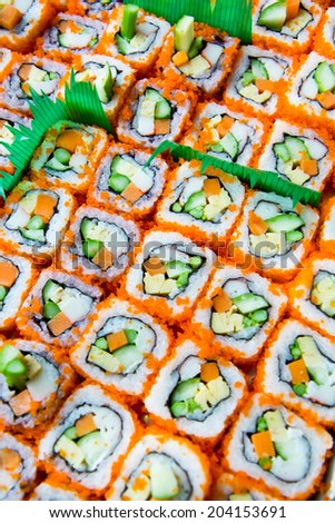 seafood sushi background