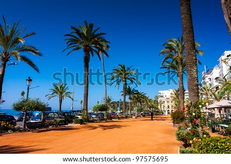 Seafront of LLoret de Mar - stock photo