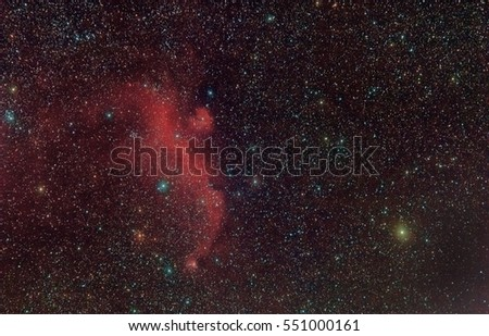 Seagull Nebula on the border of the constellations Monoceros and Canis Major