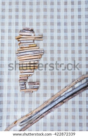 Seahorse shape made from driftwood as home decoration object - stock photo